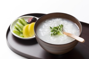 Rice Porridge with Pickled Vegetables